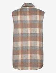 Fransa - FXTACHECK 3 Waistcoat - gevoerde vesten - oxford tan mix - 1