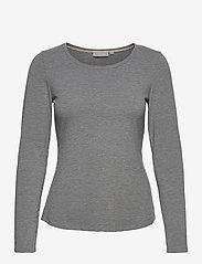 Fransa - Kasic 1 Tshirt - pitkähihaiset t-paidat - asphalt melange - 0