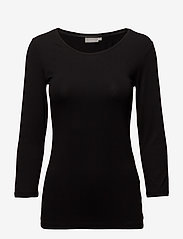 Fransa - Kikse Tshirt - pitkähihaiset t-paidat - black - 0