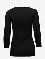 Fransa - Kikse Tshirt - pitkähihaiset t-paidat - black - 1