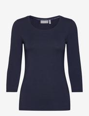 Fransa - Kikse Tshirt - langermede topper - (noos) dark peacoat - 0