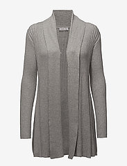 Fransa - Zubasic 61 Cardigan - cardigans - light grey melange - 0