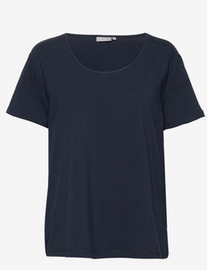 Zaganic 2 T-shirt Solid - basic t-shirts - black iris