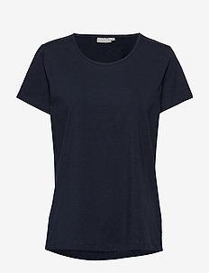 Zaganic 2 T-shirt Solid - basic t-shirts - dark peacoat