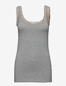 Zaganic 4 Top - sleeveless tops - asphalt melange