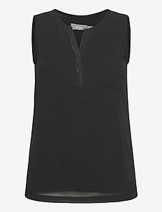 Zawov 3 Top - sleeveless tops - black