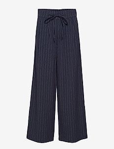 Tipin 1 Pants - wide leg trousers - dark peacoat mix