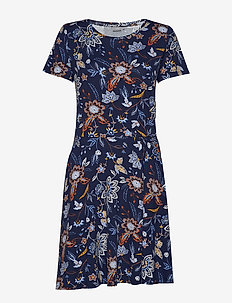 FREMDOTTON 2 Dress - FLOWER - MARITIME BLUE MIX