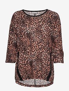 FREMFLOWER 1 T-shirt - LEOPARD - GINGER BREAD MIX