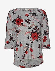 FREMFLOWER 1 T-shirt - FLOWER - POMPEIAN RED MIX