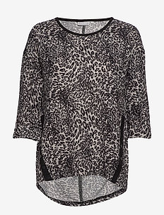 FREMFLOWER 1 T-shirt - LEOPARD - BLACK MIX