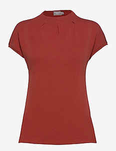 ZASKATER 2 Top - short-sleeved blouses - barn red