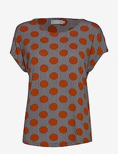 FRFIROUND 1 Top - t-shirts - dot - picante mix
