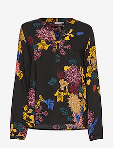 FRFACAMPA 1 Blouse - FLOWER - BLACK COMBO