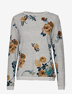 FRFISOFT 1 Top - FLOWER - GREY W. CATHAY