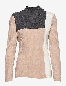 FRFIBLOCK 2 Pullover - BEIGE MELANGE