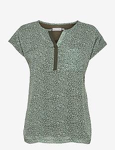 Zawov 8 Top - blouses met korte mouwen - hedge with small flowers