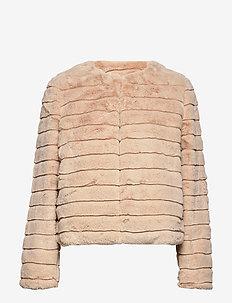 FRGAFUR 1 Jacket - tekoturkit - frappé
