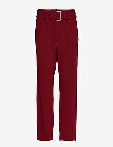 FRGISUIT 1 Pants - suorat housut - syrah