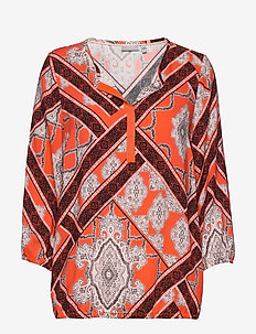 FRHACAMPA 1 Blouse - GRAPHIC - HOT CORAL MIX