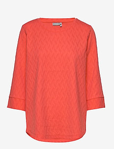 FRHIJACQUARD 1 Blouse - HOT CORAL