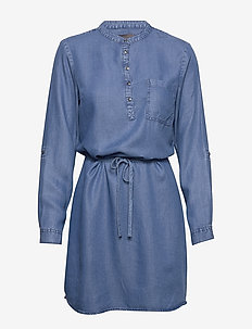 FRIVSHIRT 1 Tunic - robes chemises - skye blue denim