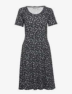 FRITDOTSA 2 Dress - midi jurken - black mix