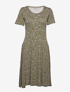 FRITDOTSA 2 Dress - midi dresses - hedge mix
