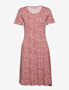 FRITDOTSA 2 Dress - midi jurken - shell pink mix