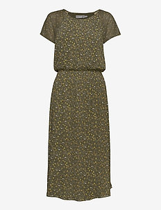 FRITMESH 1 Dress - midi jurken - hedge mix