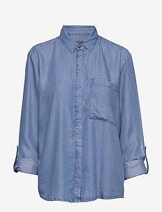 FRIVSHIRT 2 Shirt - overhemden met lange mouwen - skye blue denim