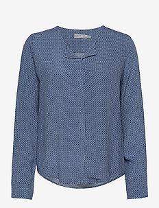 FRHAZAVISK 1 Shirt - blouses met lange mouwen - brunnera blue mix