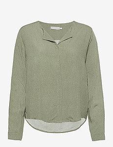 FRHAZAVISK 1 Shirt - blouses met lange mouwen - lily pad mix