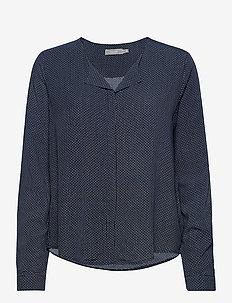 FRHAZAVISK 1 Shirt - blouses met lange mouwen - navy blazer mix