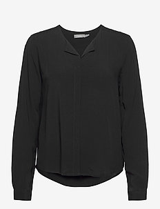 FRHAZAVISK 1 Shirt - long sleeved blouses - (noos) black