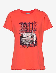 FRHIGRAF 1 T-shirt - HOT CORAL