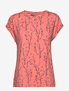 FRITSEEN 1 T-shirt - FLOWER - SHELL PINK MIX
