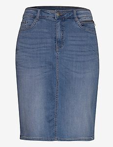FRJOZOZA 1 Skirt - denim skirts - cool blue denim