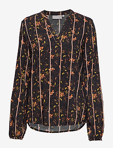 FXTIJOR 4 Blouse - langærmede bluser - black mix