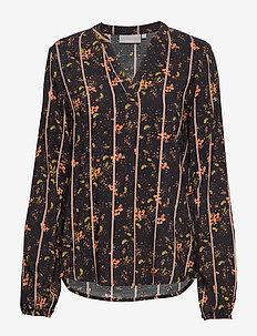 FXTIJOR 4 Blouse - bluzki z długimi rękawami - black mix