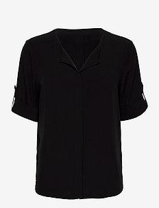 FRHAZAVISK 2 Shirt - kurzämlige blusen - black