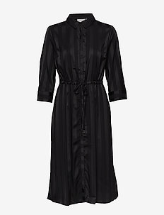 FXSUSTRIPE 1 Dress - robes chemises - black