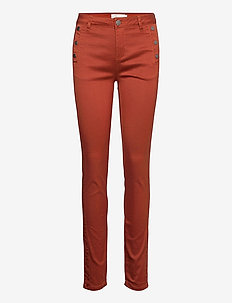 FRLOMAX 1 Pant - slim fit trousers - burnt henna
