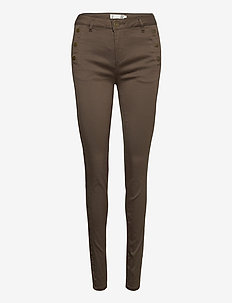 FRLOMAX 1 Pant - slim fit trousers - green ink
