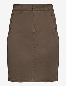 FRLOMAX 3 Skirt - short skirts - green ink
