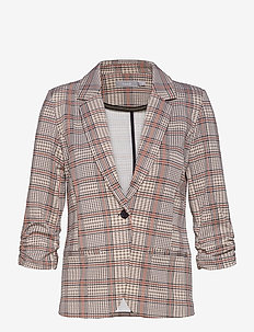 FRLECHECK 1 Blazer - tailored blazers - barn red mix