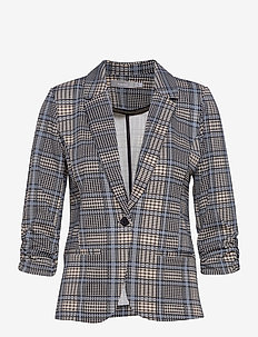 FRLECHECK 1 Blazer - tailored blazers - della robbia blue mix