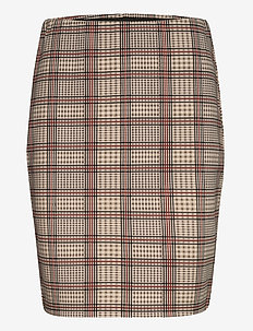 FRLECHECK 2 Skirt - midi skirts - barn red mix