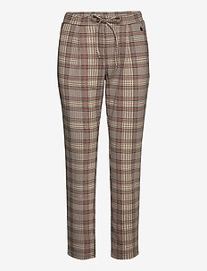 FRLECHECK 4 Pants - slim fit spodnie - barn red mix