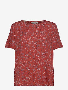 FRLAJUNE 1 Blouse - short-sleeved blouses - barn red mix